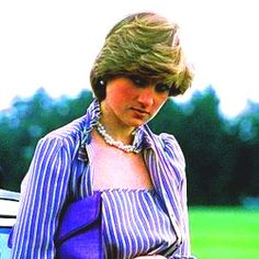 June 16, 1981: Lady Diana casually leans against Prince Charles Aston Martin while he plays polo.