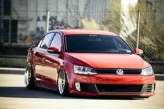 Volkswagen Jetta GLI Tuning Custom Rims Low Car HD Wallpaper