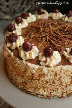 my passions: black forest cake or Black Forest Pastry Recipes, Cupcake Recipes, Dessert Recipes, Polish Desserts, Polish Recipes, Different Cakes, Dessert Bread, Great Desserts, Cakes And More