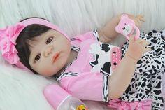 Amiable 22inch Reborn Babies 55 Cm Soft Silicone Vinyl So Truly Handmade Doll High Quality Girl Infant Boneca Model Kids Birthday Gifts Good Taste Toys & Hobbies