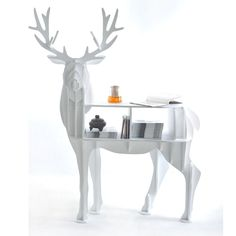FREE SHIPPING Christmas deer table European DIY Arts Crafts Home Decorative elk wood craft gift desk self-build puzzle furniture