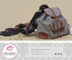 With our assorted sarongs and bags available, make your day at the beach perfect! Head down to your nearest Blush store! Sarongs, Drawstring Backpack, Summertime, Africa, Blush, Backpacks, Make It Yourself, Store, Accessories