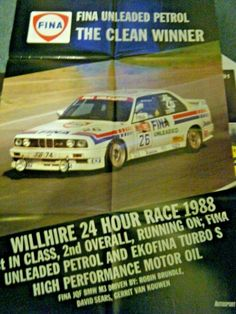 BMW M3 WILLHIRE 24 HOURS 1988 VERY LARGE POSTER AFFICHE DAVID SEARS BRUNDLE Turbo S, Bmw M3, David, Racing, Posters, Ebay, Running, Auto Racing, Poster