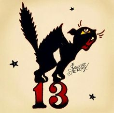 lucky black cat and lucky friday the 13th