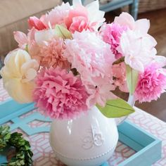 Learn to make 3 different types of realistic tissue paper flowers to create everlasting bouquets. Includes peonies, dogwoods & petal bloom