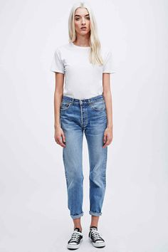 Urban Renewal Vintage Customised Levi's 501 Jeans in Blau - Urban Outfitters