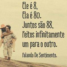 8, 80, 88 e infinito! #amor #love #namoro #namorada #namorado #casamento #relacionamento #amar #casal #casais #paixao #apaixonados #teamo #amovoce #meuamor #amoreterno #frases #textos #poemas #poesia