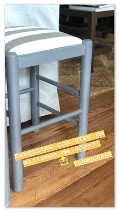 Oh my Chalk! Grey Oh My Chalk, Chalk Paint, Stool, Grey, Furniture, Home Decor, Home, Crafts, Gray