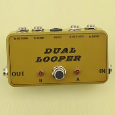 New True-Bypass Looper Effect Pedal Guitar Effect Pedal Looper Switcher  true bypass guitar pedal Army Green dual Loop switch