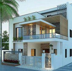 Modern Exterior House Designs, Modern Small House Design, Modern House Facades, Modern Architecture House, Modern House Plans, Modern Bungalow Exterior, Minimalist House Design, Building Architecture, Architecture Design
