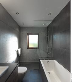 Bathroom At The Beaumont House By Henri...but without the glass between tub and shower; just make it a wet room