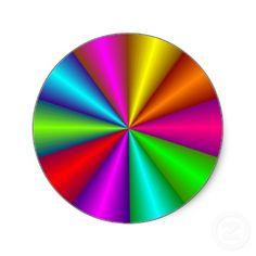 Colorful Optical Illusion Sticker
