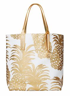 Pineapple gold tote bag