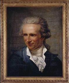 Portrait of a smiling man in a grey-blue jacket by Joseph Ducreux