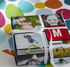 Make your presents stand out with personalized gift wrap. | Shutterfly
