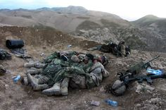 Even soldiers cuddle