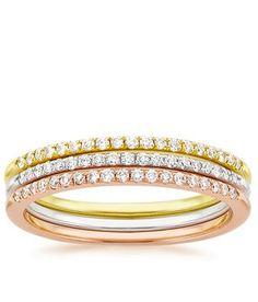 Whisper Diamond Ring Stack