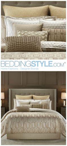 Candice Olson Interplay Bedding. #BeddingStyle #gold #metallic #CandiceOlson