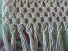 Arte em Macramê e Crochê: Passo a passo barrado em macrame