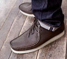 Doom x Clarks Originals Wallabee Clarks Shoes Mens, Men's Clarks, Mens Fashion Blog, Mens Fashion Shoes, Men's Fashion, Boat Shoes, Men's Shoes, Shoe Boots, Dress Shoes