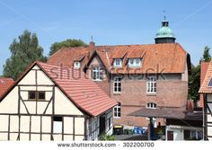 Half-timbered houses in an old village