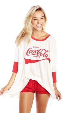 I HAVE TO HAVE THIS!!!!! #love The Wildfox Coca Cola Sunny Morning Tee