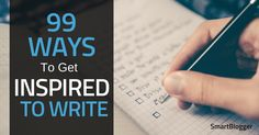 If you're struggling to meet your writing goals, you may just need a spark of inspiration. Check out this list of nearly a hundred ideas for stuck writers.