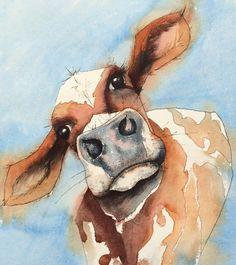 Bertie, Watercolour painting by Jill Griffin | Artfinder