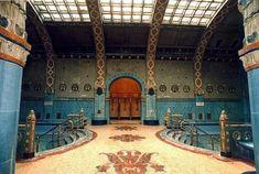 Gellert Baths, Hotel Gellert, Budapest, Hungary. Lovely place to float around.