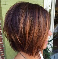60 Layered Bob Styles: Modern Haircuts with Layers for Any Occasion - Cute Layered Caramel Brown Bob - Medium Hair Styles, Short Hair Styles, Bob Styles, Copper Balayage, Balayage Color, Layered Bob Hairstyles, Hairstyles Haircuts, Hairdos, Woman Hairstyles