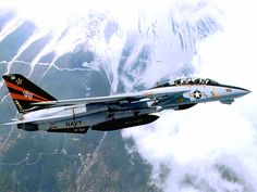 F-14 Over Mountains