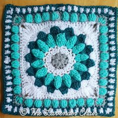 The Sunshine Daisy Mandala Square was created for the Mandala Blanket CAL by The Lavender Chair! The Mandala Blanket CAL has 20 unique squares Crochet Boot Cuff Pattern, Crochet Mandala Pattern, Granny Square Crochet Pattern, Crochet Patterns, Crochet Yarn, Crochet Stitches, Crochet Flowers, Free Crochet, Crochet Daisy