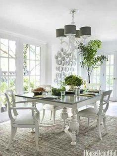 White dinning room design