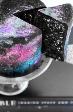"""Космический торт """"Космос, галактика и звездное небо"""""""