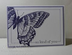 Stampin' Up! Swallowtail - Thursday Time Out I am really loving Leonie Schroder's butterfly card. Those stark lines and the monochromatic look is just so elegant. Stop by and say hello!