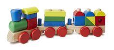 Wooden Stacking Toddler Train Toy | Melissa & Doug