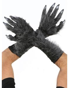 Grey Killer Wolf Gloves – Spirit Halloween
