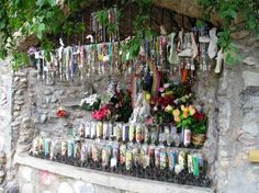 rosaries and candles