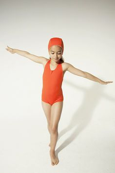 Omkeerbaar oranje badpak - Little Creative Factory - Goldfish.be