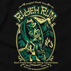 H.P. #Lovecraft: R'Lyeh Rum t-shirt.