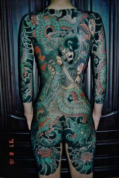 Inspirational images of tattoos, with everything from skulls and dragons to meaningful quotes. Tattoos help to tell the world who we are. Browse, enjoy and share the tattoos of others, or upload your own. Japanese Tattoos For Men, Japanese Dragon Tattoos, Japanese Tattoo Art, Traditional Japanese Tattoos, Japanese Tattoo Designs, Japanese Art, Japanese Sleeve, Backpiece Tattoo, Irezumi Tattoos