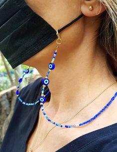 Evil Eye Jewelry, Evil Eye Necklace, Evil Eye Bracelet, Diy Jewelry Necklace, Beaded Jewelry, Beaded Bracelets, Pulseras Kandi, Friend Necklaces, Creations