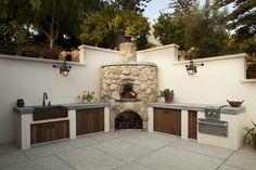Outdoor Kitchen mediterraneo-patio
