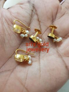 Gold Jewelry For Cheap Key: 2268874257 Gold Jhumka Earrings, Gold Earrings Designs, Gold Jewellery Design, Simple Earrings, Simple Jewelry, Gold Jewelry For Sale, Silver Jewelry, Silver Ring, Baby Jewelry
