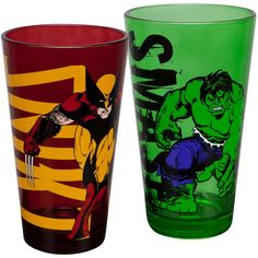 Marvel Wolverine and Hulk 2-Pack Pint Glass Set *** To view further, visit now : Glassware Drinkware