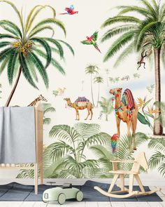 Non-woven wallpaper in custom sizes. Binti Baby is the perfect pick for you kids or baby room with its beautiful camels in the desert. Designed for Binti Home. Amsterdam, Creative Labs, Baby Wallpaper, Designer Wallpaper, Wallpaper Designs, Decoration, Baby Room, Diy Home Decor, Child Room