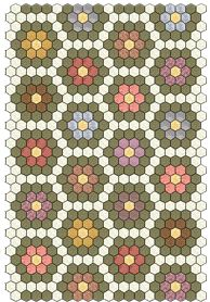 Samples of Hexagon Quilts-I am working diligently on my flower garden quilt and thinking of ideas for my next hexagon quilt