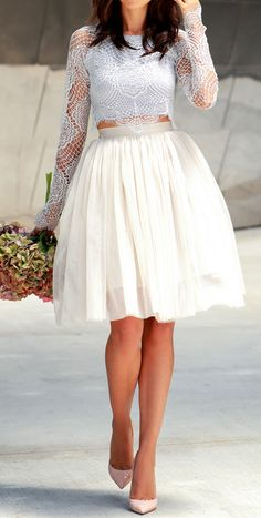 Cute look for a bridal shower or rehearsal dinner