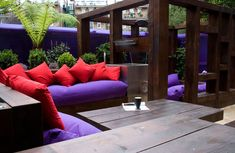 The seating area not only looks great but creates a private area