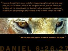 Daniel 6:26-27